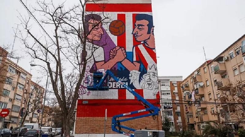 ΑΤΛΕΤΙΚΟ-ΡΕΑΛ: Καταπληκτικό γκράφιτι στη Μαδρίτη