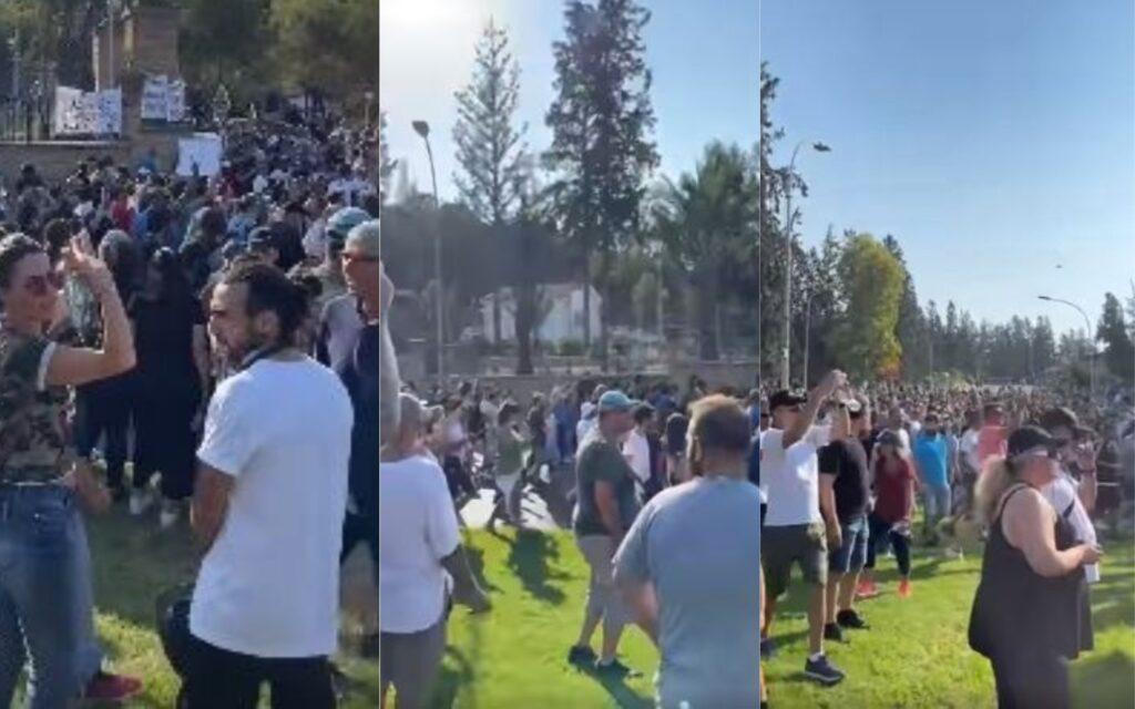 ΤΩΡΑ: Πορεία διαμαρτυρίας έξω από το Προεδρικό – Φωνές για εμβόλια και safepass (BINTEO)